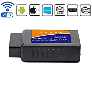 Friencity Car WIFI OBD 2 OBD2 OBD ii Scanner Adapter for IOS, Android and Windows, Auto Diagnostic Scan Code Reader Tool, Check Engine Light for Year 1996 and Newer Vehicles
