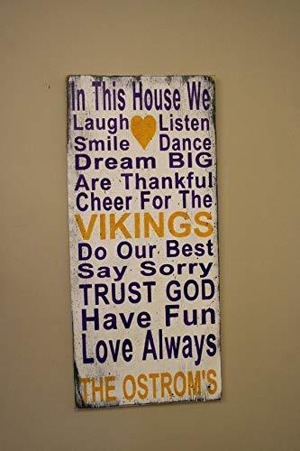 Enid18bru Placa Decorativa De Pared Con Texto En Inglés Vikings