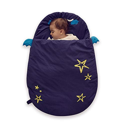 Bebamour Baby Sleeping Bag Nursery Cotton Blankets Baby Kids Toddler Sleep Sack Stroller Wrap Blanket for 0-18 Month Baby (Blue)