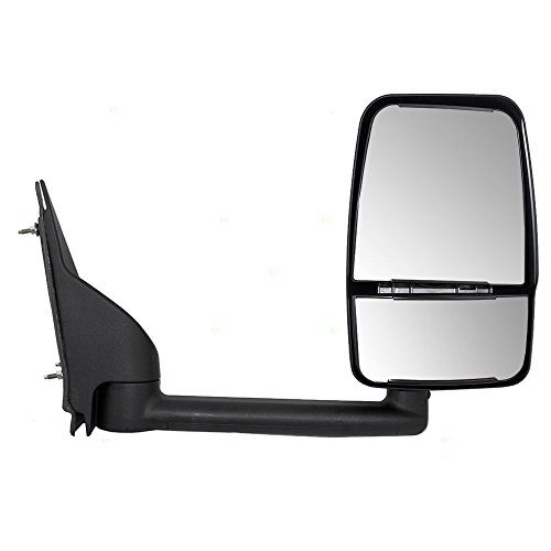 - Passengers Manual Side View Paddle Type Dual Glass Mirror Replacement for Chevrolet GMC Van 25894030 AutoAndArt