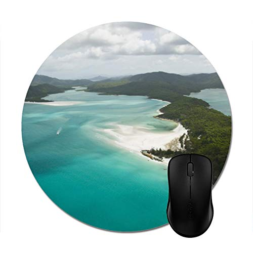 White Headphones Black Mouse Pad - Trendy Stylish Office Accessory Computer Gaming(8