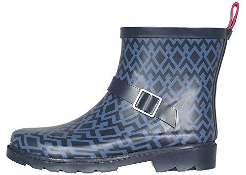 Umbrella Combo New Printed Ladies Short Rain Boot York Navy Capelli OPqtq