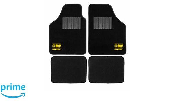 Omp OMP1039-B Speed Kit Alfombras con Logo Amarillo: Amazon.es: Coche y moto