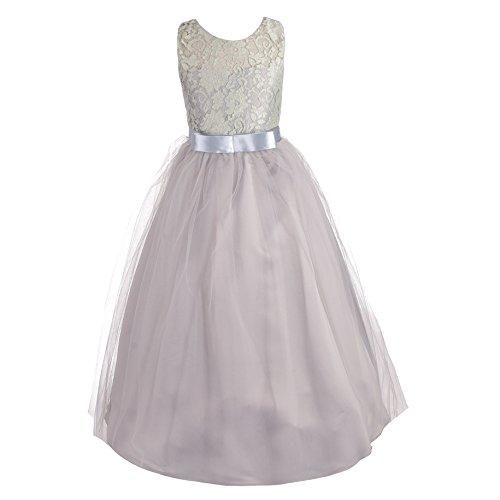 50048b6de Dressy Daisy Girls Pageant Wedding Flower Girl Dresses Lace Ball Gown Floor  Length