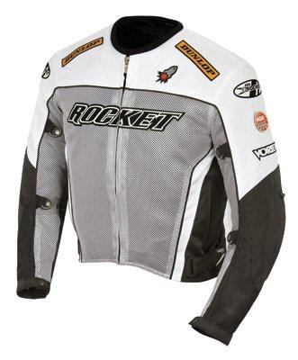 - Joe Rocket UFO 2.0 Men's Textile On-Road Motorcycle Jacket - Grey/Black/White/X-Lagre