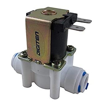 DIGITEN DC 12V Water Solenoid Valve Quick Connect 1//4 Inlet Feed N//C Normally Closed No Water Pressure