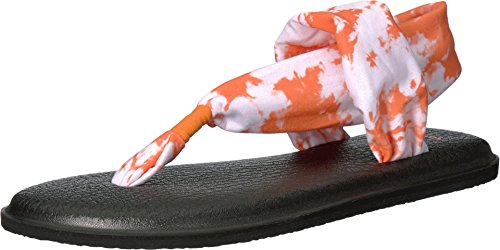 Sanuk Women's Yoga Sling 2 Prints Orange Tye Dye Sandal