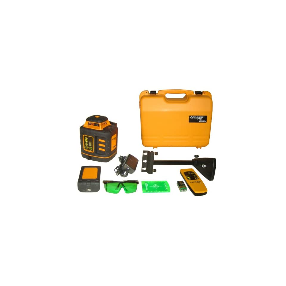 Johnson Level and Tool 40 6543 Self Leveling Rotary Laser Level with GreenBrite Technology