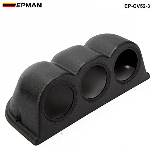 - EPMAN 2 Inch 52mm Universal 3 Triple Hole Dash Gauge Pod Mount Holder ABS (Black)