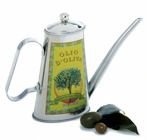 NEW NORPRO 2 CUP STAINLESS STEEL OIL CAN VINTAGE CLASSIC DESIGN KITCHEN CRUET ()