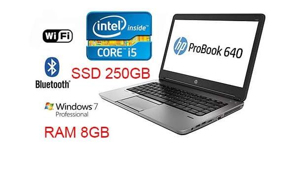 notebok HP PROBOOK 640 G1 Core i5 3,3 GHz SSD 250 GB LC 14 in WIN7PRO (Reacondicionado): Amazon.es: Informática