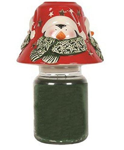 Village Candle Bougie en pot–Penguin Abat-jour 13cm–Convient pour toutes les grandes bougies en pot, Yankee, WoodWick, etc.