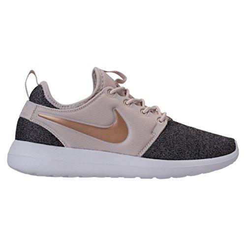 Nike W Roshe Due Donne In Maglia Aa1113-100 Lt Orewood Brn / Blur-black-white