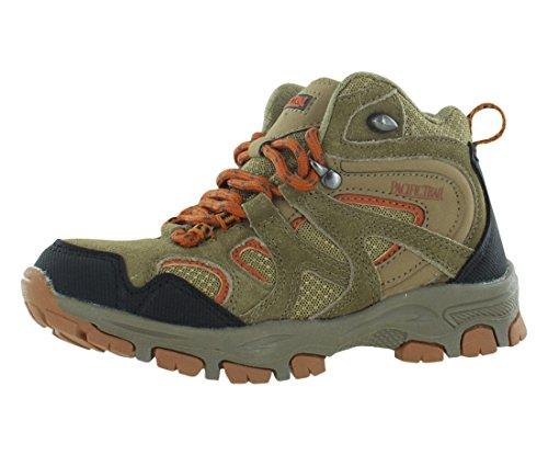 Image of Pacific Trail Diller Jr Boys Hiking Boots Size US 2.5, Regular Width, Color Brown/Orange