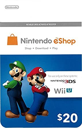 Amazon.Com: Nintendo Eshop $20 Gift Card: Gift Cards