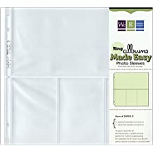 "We R Memory Keepers 12"" x 12"", 3 Ring Album Photo Sleeve Protectors, 10 Pack, Ultra Crystal Clear"