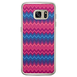 Loud Universe Samsung Galaxy S7 Edge Chevron 4 Printed Transparent Edge Case - Multi Color
