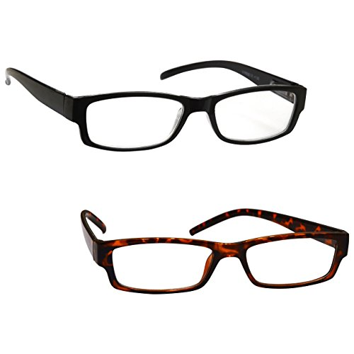 a9aed984aae The Reading Glasses Company Black Brown Tortoiseshell Lightweight 2 Pack  Designer Style Mens Womens UVR2PK032 032BR +1.50  Amazon.co.uk  Health    Personal ...