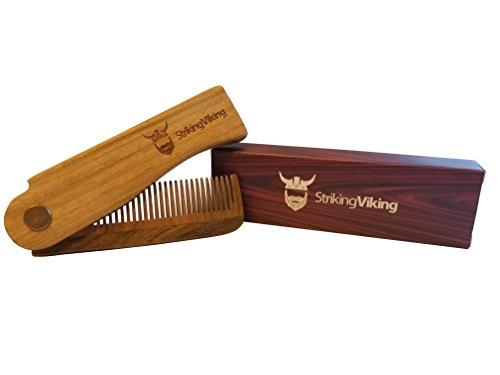 Folding Wood Comb Striking Viking