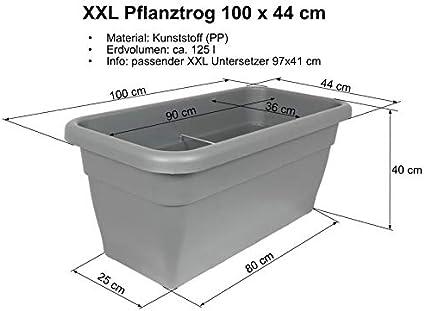 XXL Trogolo-pianta Untersetzer 47x24 cm Antracite Sottobicchieri