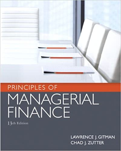 gitman managerial finance solution manual 13th