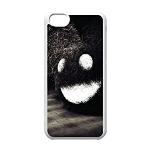 iPhone 5c Cell Phone Case White Dark Happy Face Mfcmc