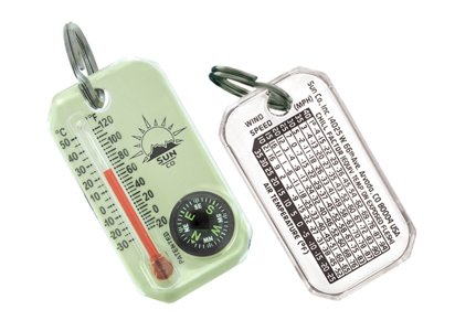 - Sun Company LumaGage - Zipperpull Compass & Thermometer | Easy-to-Read Outdoor Thermometer and Compass