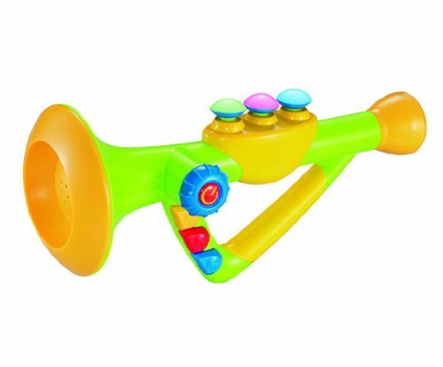 10 Musical Toy Trumpet Trumpet Trumpet Instrument for Kids with Music and Lights by Liberty Imports 15c592