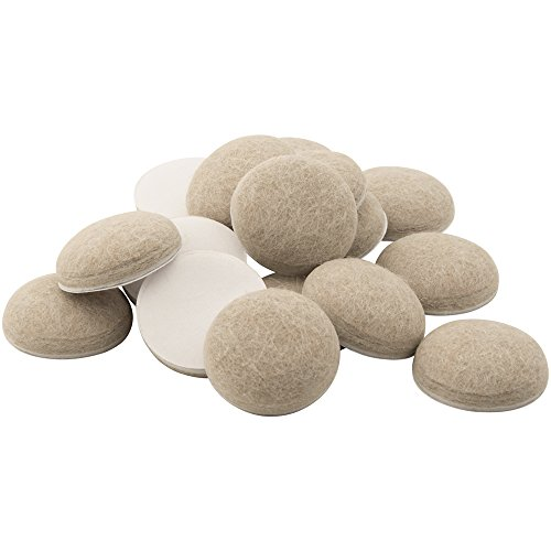 SoftTouch Premium Scratch Resistant Domed Felt Pads for Hard Floor Surfaces, Self-Stick 1