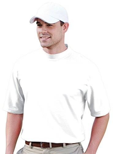 Jonathan Corey Men'S Short Sleeve Performance Pique Mock Turtleneck (White) (Short Sleeve T-shirt Turtleneck)
