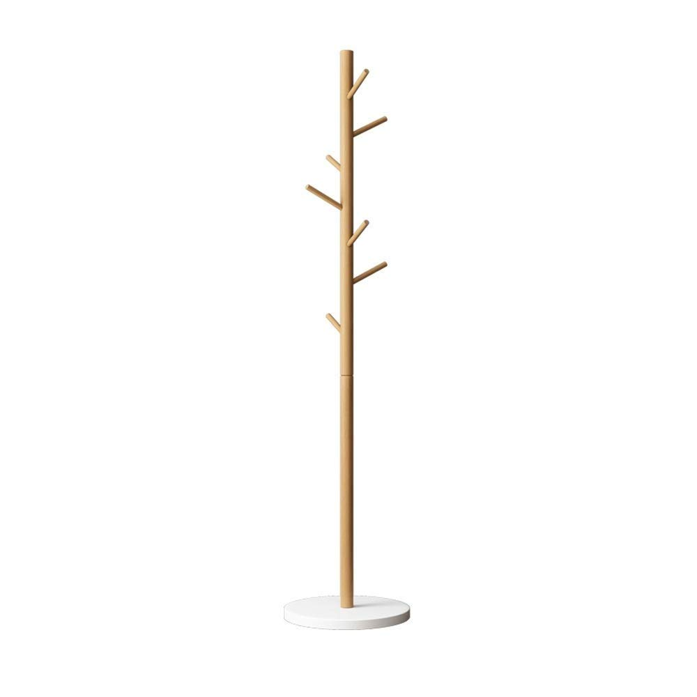 White Nevy Brands Coat Stand, Rubber Wood Hanger Floor Rack Triangle Bracket Hat Storage 170cm   67 in X37cm,4 colors for (color   Yellow)