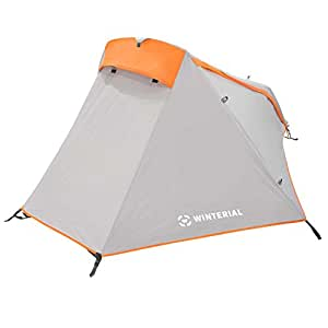 Winterial Single Person Tent, Personal Bivy Tent, Lightweight, 3 Pounds 9 Ounces, Elite, Backpacking, Camping, Gray