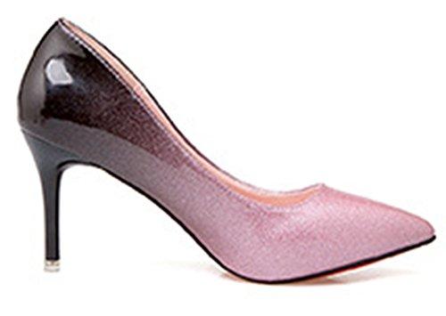 Showhow Womens Dressy Slip Toe Slip On Scarpe Da Sposa Rosa