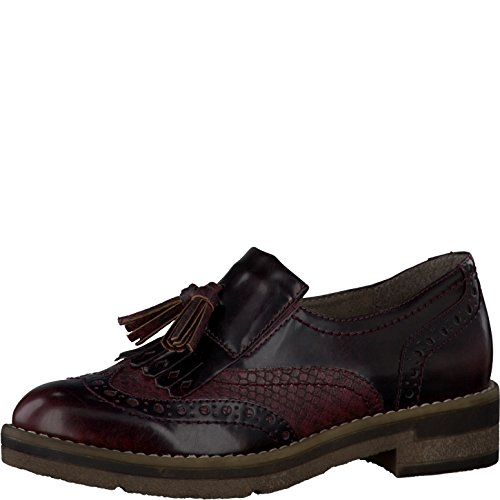 Tamaris 1-24608-27 Womens Loafers Bordeaux Comb