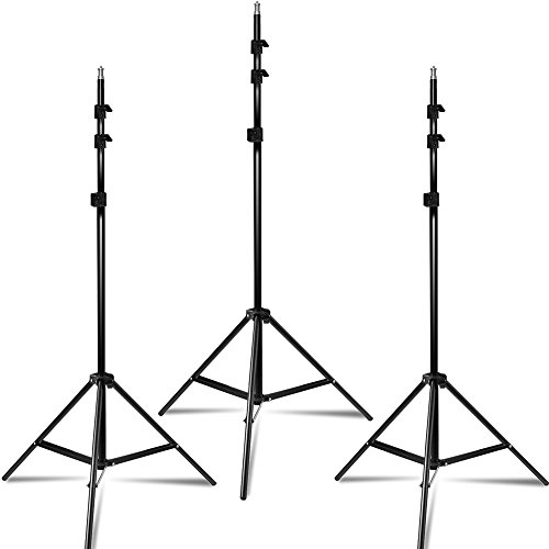 LimoStudio Photo Video Studio, Max 20 ft. Wide, Length Adjustable Photo Background Muslin Backdrop Support System with 3 Stands, Photography Studio, AGG2279 by LimoStudio (Image #2)