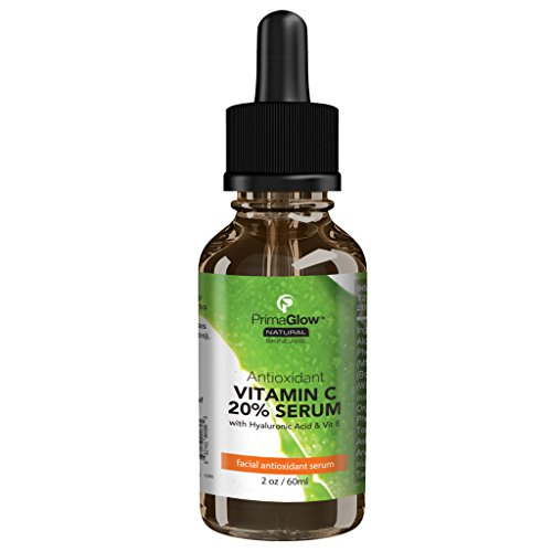 Vitamin C Serum for Face with Hyaluronic Acid, Anti Aging Wrinkle Benefits to help with Signs of Aging, Organic Jojoba Oil, Aloe Vera, Vit E, 2 oz