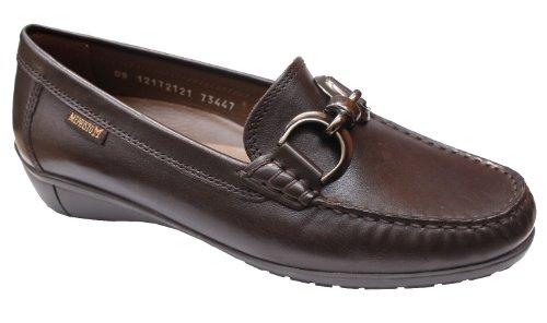 Mephisto-zapatillas Mocassin-DEBBIE 14551-mujer piel, color marrón