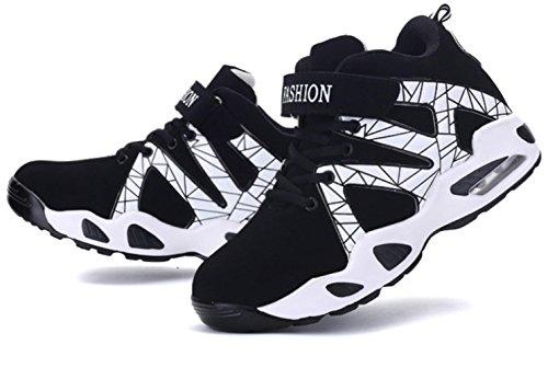 CSDM Uomini New Leisure Air Cushion Scarpe da Basketball Uomini Alto Aiuto Sport Casual Scarpe , black , 41