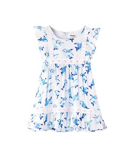 (Hatley Baby Girls Mini Birthday Dress, Blue Birds Fly 18-24)