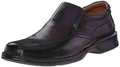 Clarks Men's Escalade Step Slip-on Loafer- Black 8 2E US