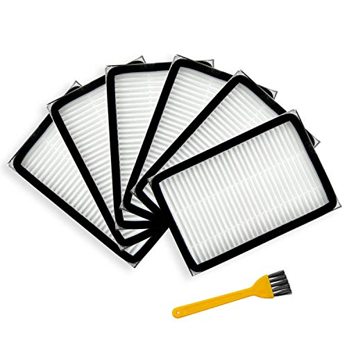 Yours 6-Pack HEPA Vacuum Filter Compatible with Kenmore 86880, EF-2 and Also Compatible with Panasonic MC-V194H (Hepa Media Filter 86880 Mc V194h 40320)