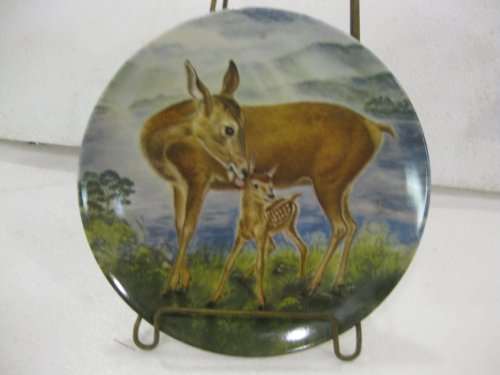 Edwin M. Knowles Fine China-Signs Of Love Collection-Plate 6, A Reassuring Touch by Wildlife Painter Yin-Rei Hicks.8.5