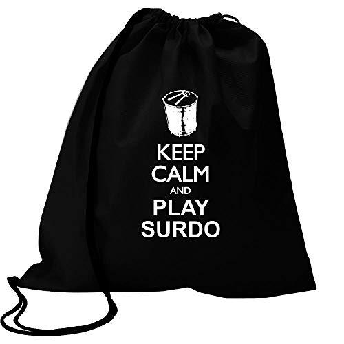 Idakoos Keep calm and play Surdo silhouette Sport Bag 18
