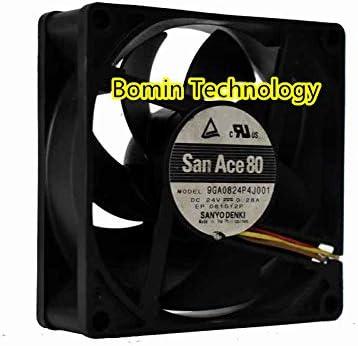 Bomin Technology San Ace 80 9GA0824P4J001 24V 0.24A 3-Wire 8CM 8025 Cooling Fan