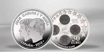 Spanien Spain Espana 30 Euro Gedenkmünze 2012 10 Jahre Euro