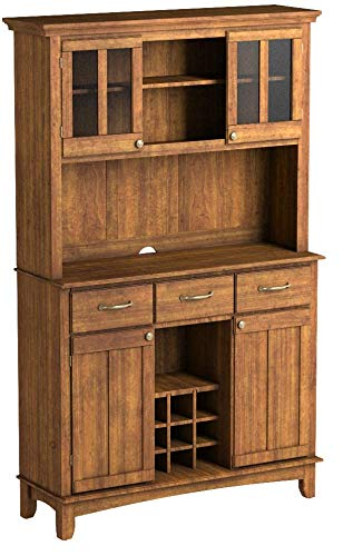 Home Styles 5100-0066-62 Buffet of Buffets Cottage Oak Wood with Hutch, Cottage Oak Finish, 41-3/4-Inch by Home Styles (Image #4)