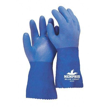 Chemical Resistant Gloves, PVC, 3XL, 12''L- Pack of 5 by MCR SAFETY (Image #1)