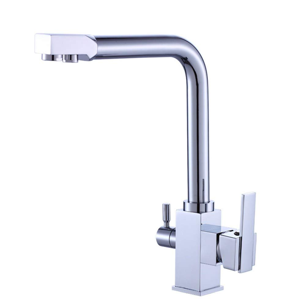 Cucsaist Bathroom Kitchen Copper Water Purification Kitchen Faucet Hot And Cold Water Single Kitchen Faucet