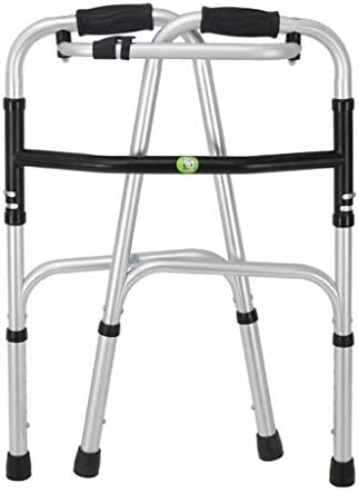 折りたたみ式、高さ調整可能、高齢者用の歩行補助器具付きの歩行補助軽量アルミ折りたたみ式歩行器