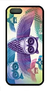 iPhone 5S Customized Unique Owls New Fashion TPU Black iPhone 5/5S Cases - Scenery Flowers
